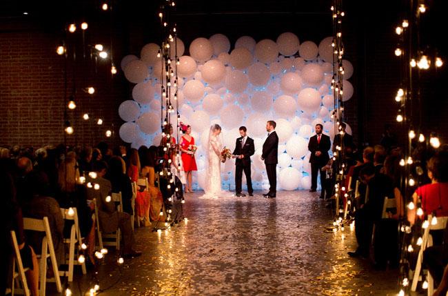 balloon wall ceremony backdrop