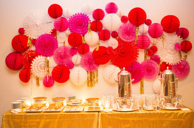 colorful pinwheel dessert backdrop