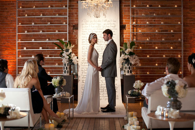 Sophisticated Contemporary Wedding Ceremony In: Modern Wedding Inspiration From Carondelet House