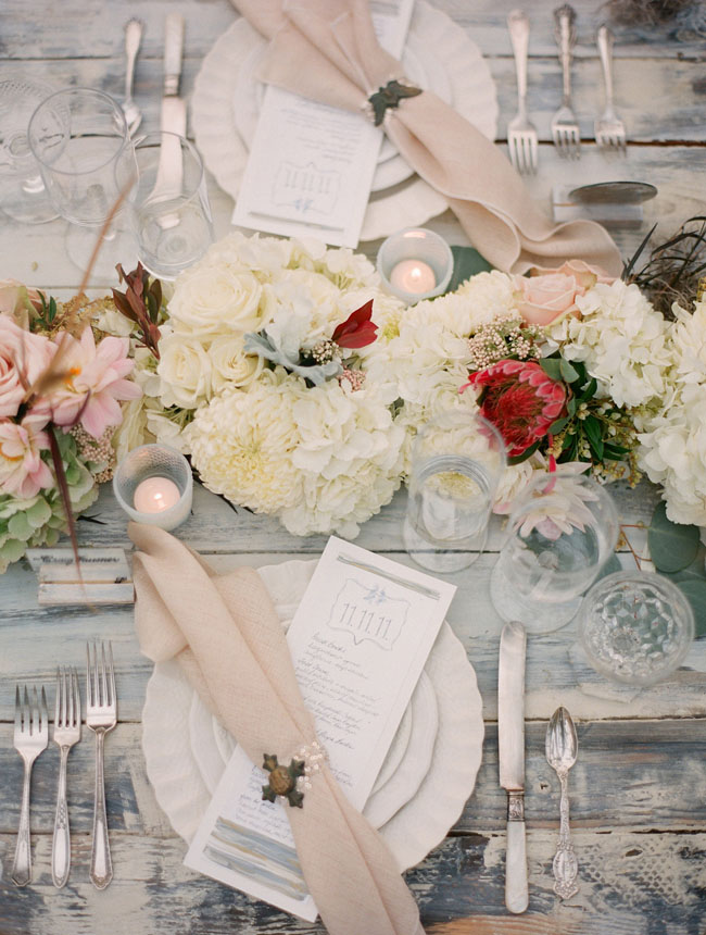shipwreck tablescape