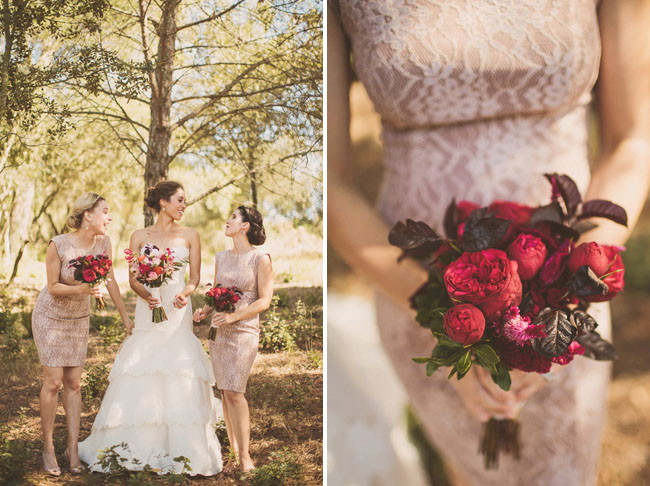 deep pink bouquets