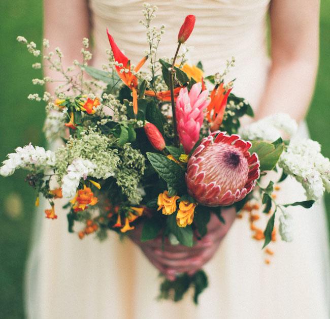wild protea bouquet