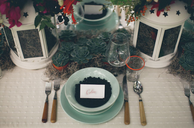spanish moss place setting