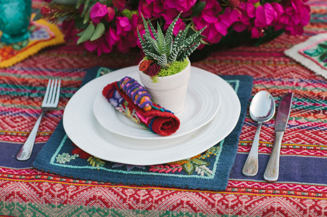 succuclent place setting