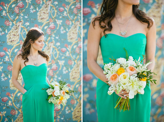 green bridesmaid