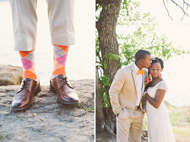 neon grooms socks