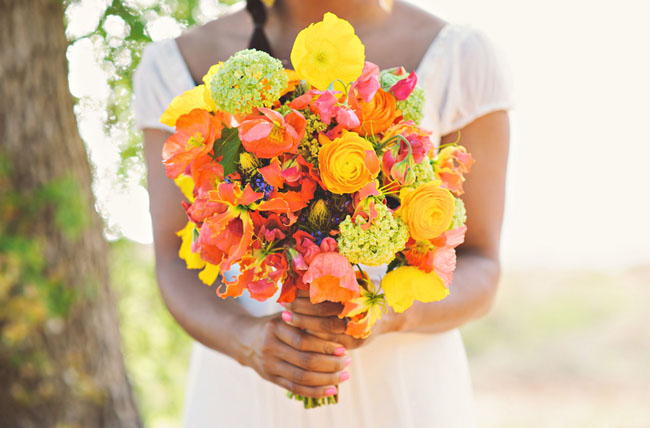 neon inspired bouquet