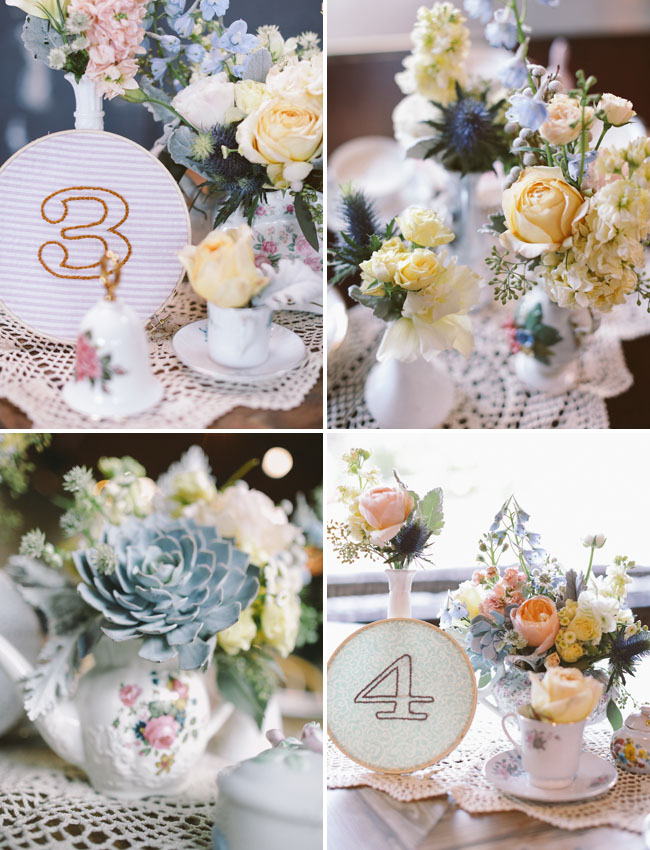 embroidered hoop table numbers