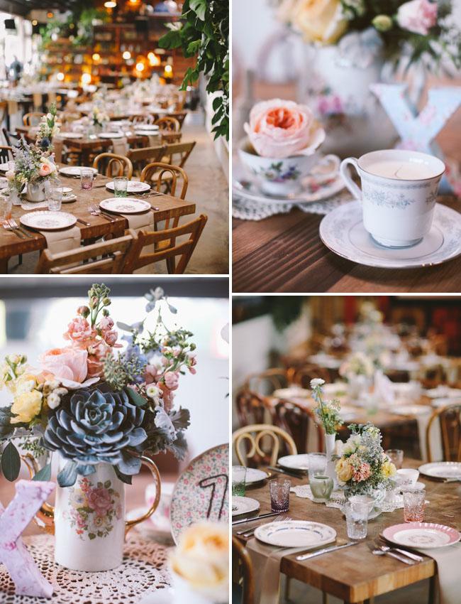 teacup wedding decor