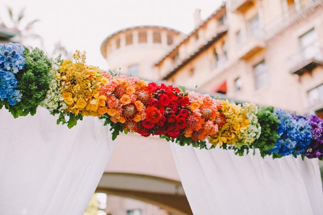 rainbow flower altar