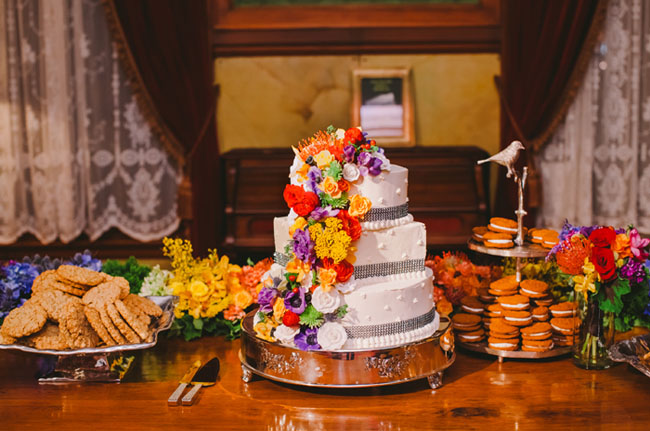 rainbow flower wedding cake whimsical rainbow wedding tien 18958