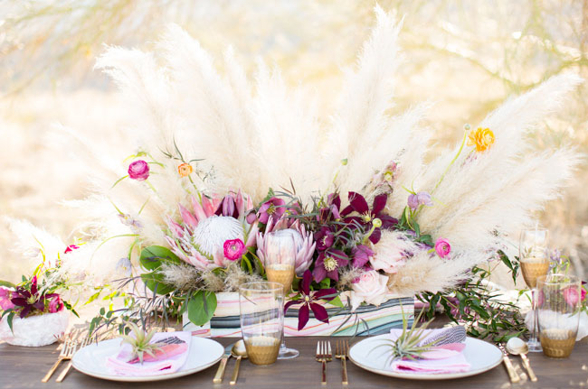 protea tablescape