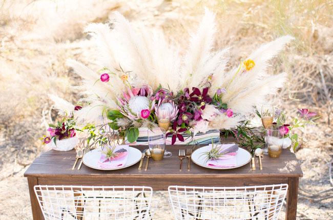 pink desert tablescape