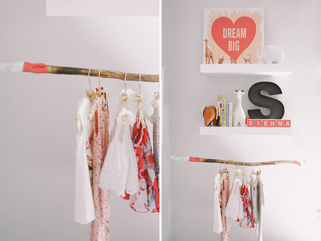 wood stick for hanging clothes