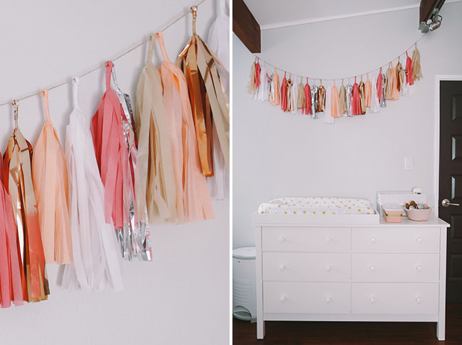 fringe garland for baby's room