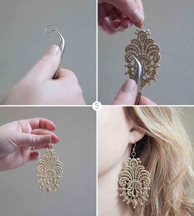 6a389ff3ad9 DIY: Lace Earrings