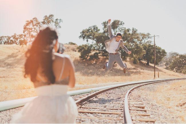 groom jumping