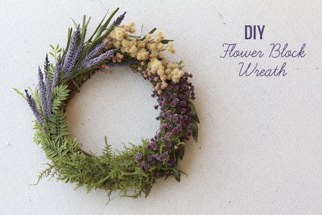 DIY Flower Block Wreath