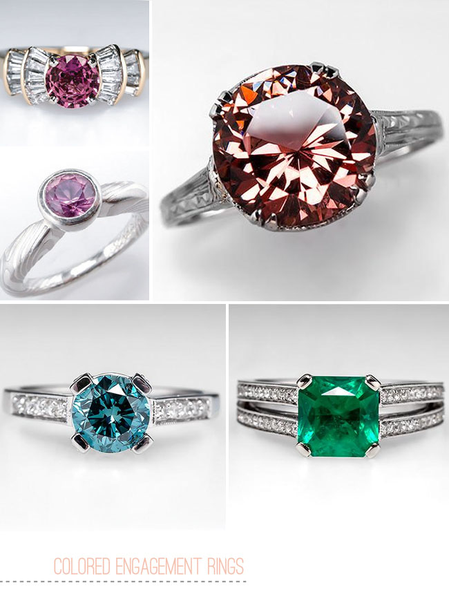 colored gemstone engagement rings from eragem green