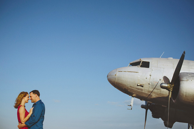 Old Miami Airport Engagement Photos