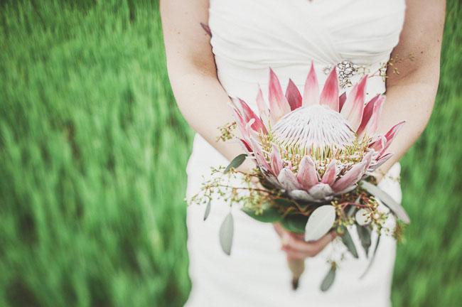 vintage protea bouquet