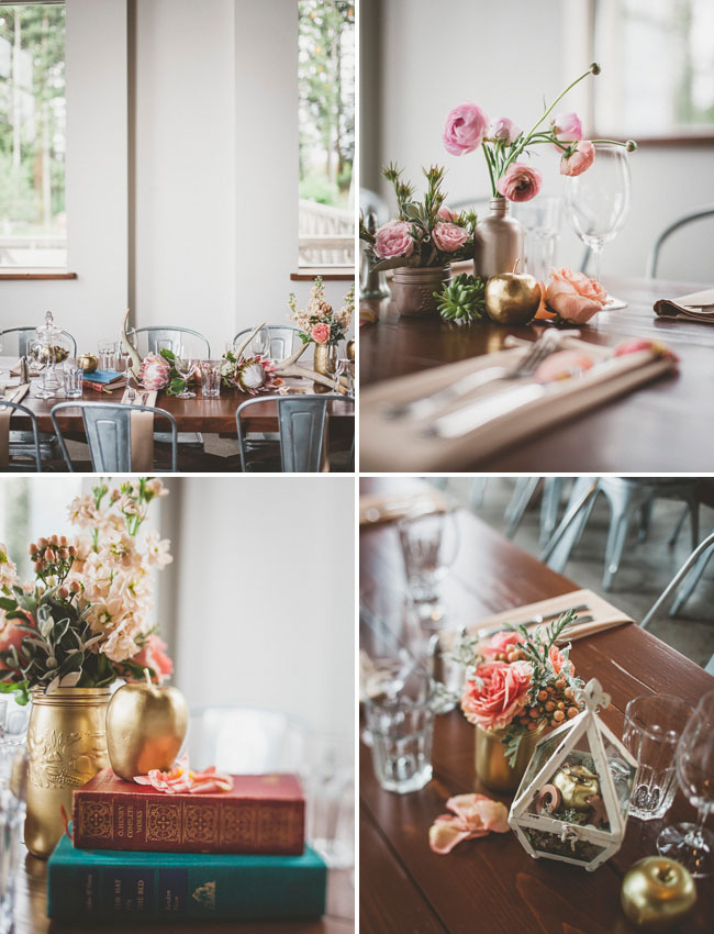 vintage romantic table decor