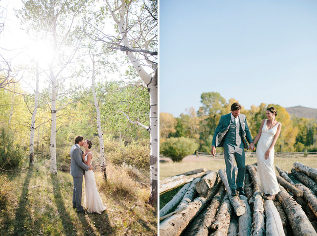 brush creek bride and groom