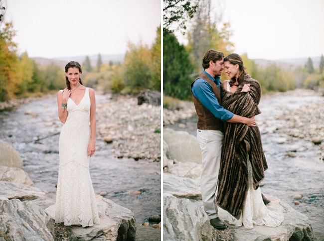 brush creek bride and groom