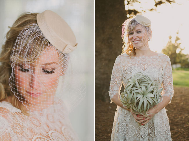 pillbox bridal hat