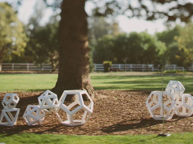 geometric ceremony cubes