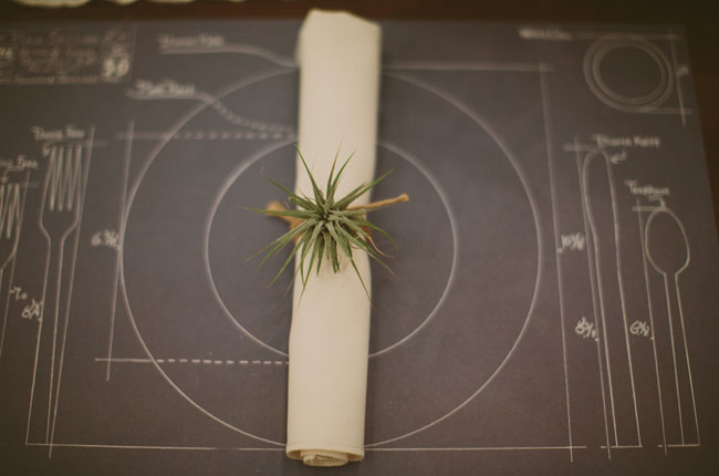 airplant napkin ring
