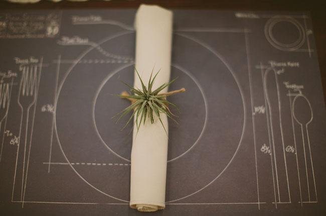 airplant napkin ring