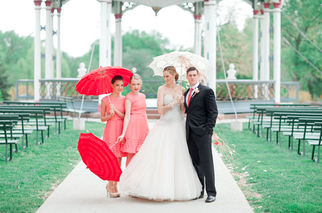 coral wedding inspiration