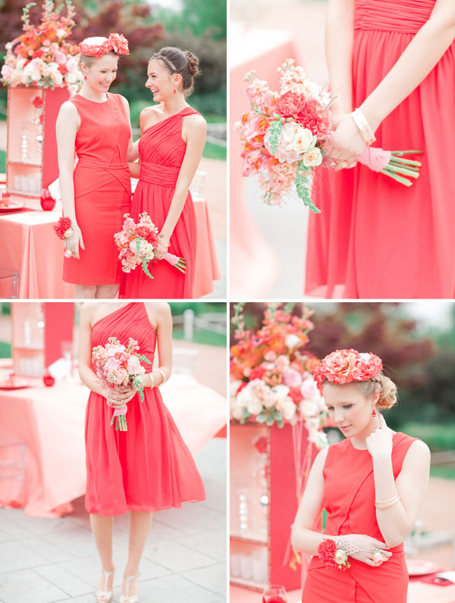 A Coral Poppy Red Palette Styled Two Ways
