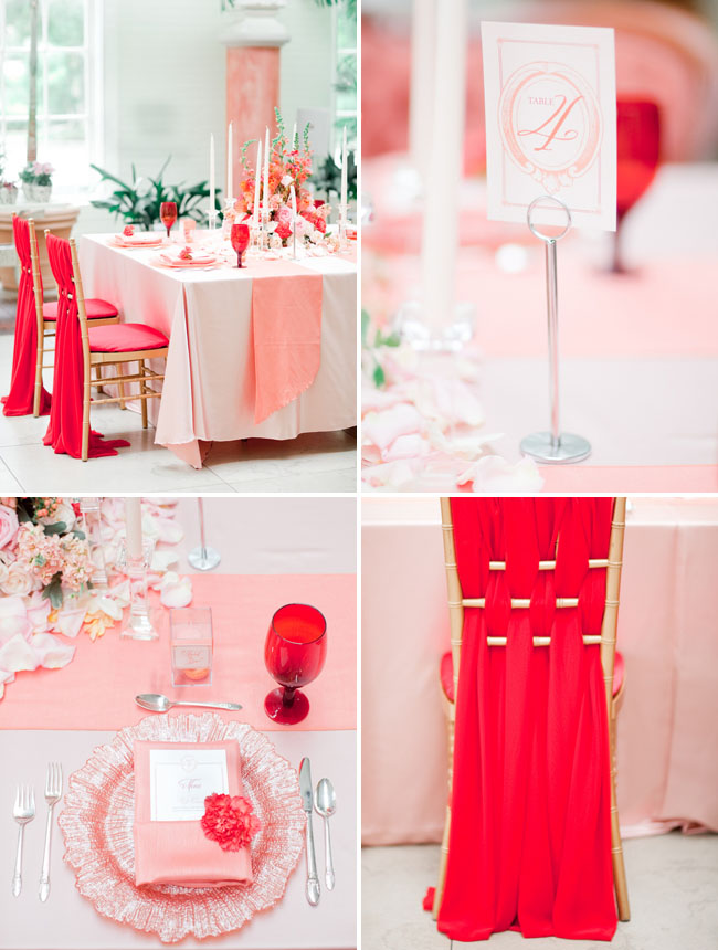 red chair decor