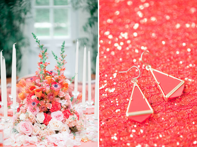 whimsical coral florals