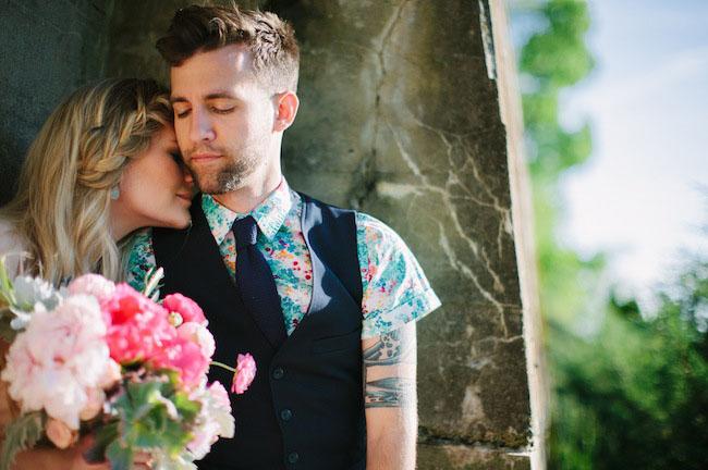 floral grooms shirt