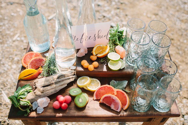 drink bar with fruits
