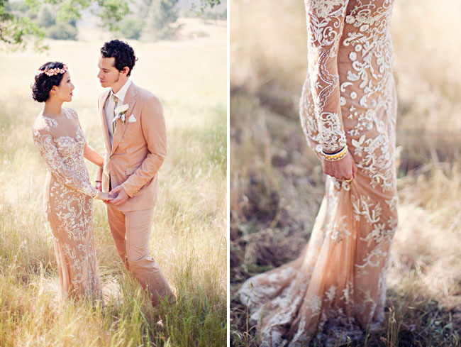 gorgeous lace design gown