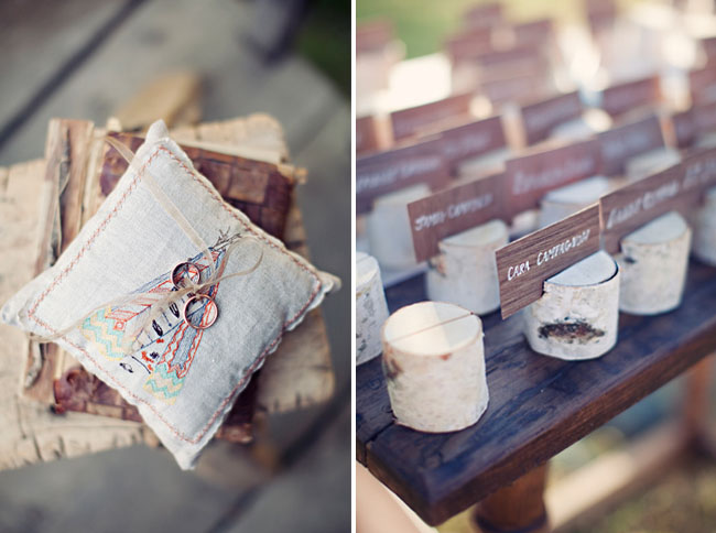 wood seating card holder