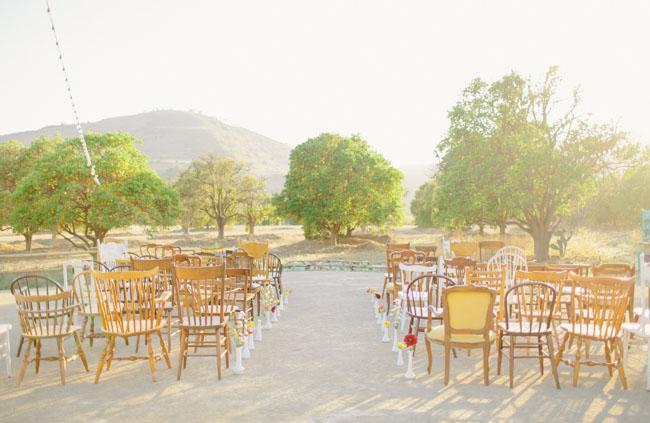 vintage chair ceremony