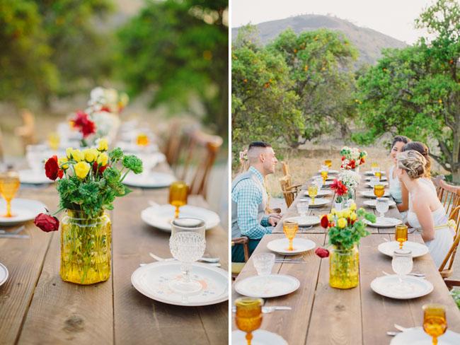 yellow jar vases