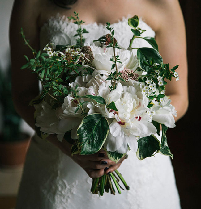 camp wedding bouquet