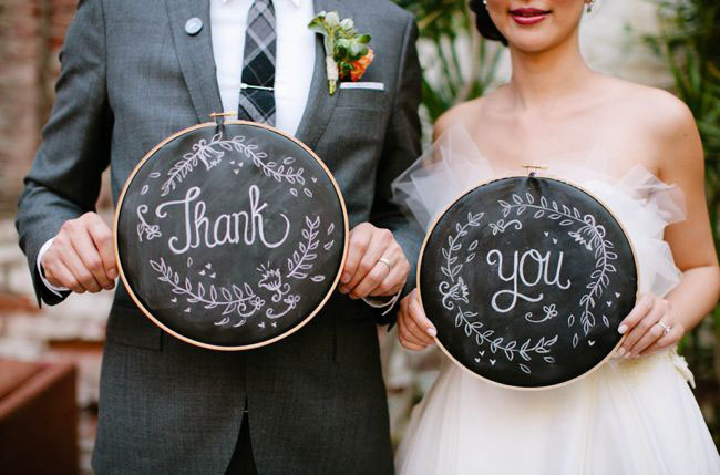 embroidery hoop thank you sign