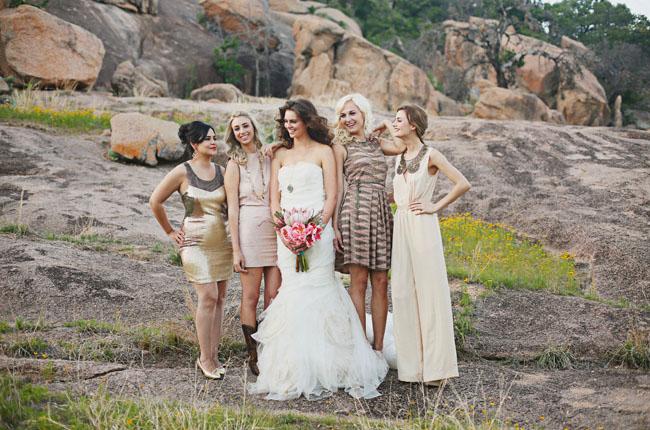 mid century bridesmaids