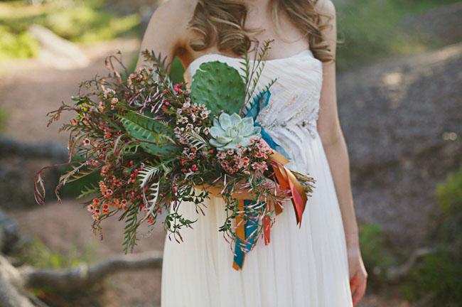 mid century cactus bouquet
