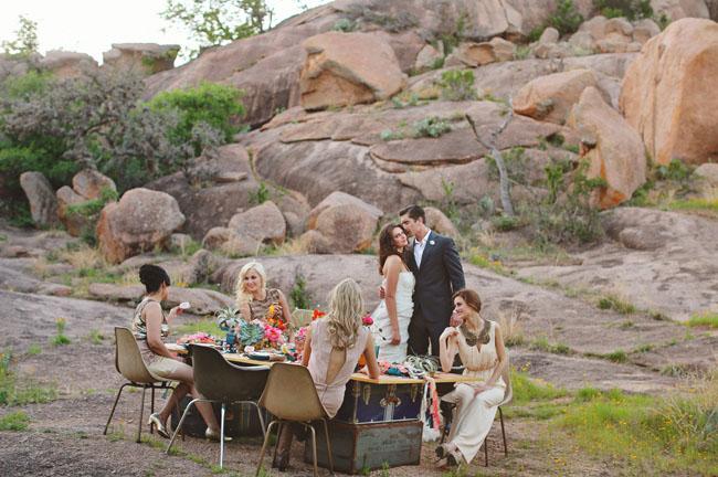 mid century wedding inspiration