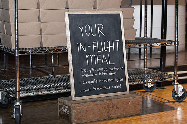 in-flight meal menu