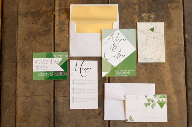 modern rustic invitation