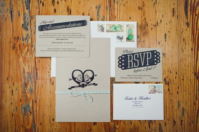 kraft paper invitation